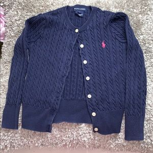 Ralph Lauren Size 6 Blue Girls Sweater : Cardigan